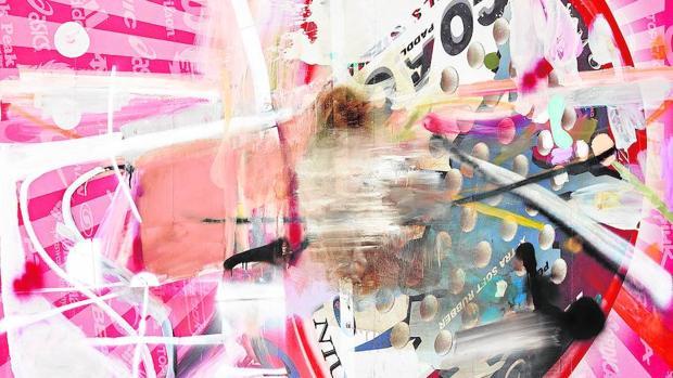 Óleo de Albert Oehlen presente en la exposición que le dedica el Guggenheim