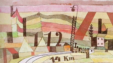 «Estación L 112, 14 km» (1920), de Paul Klee