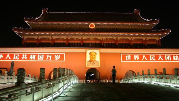 Retrato de Mao en la entrada a la Ciudad Prohibida