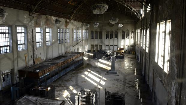 Aspecto actual de la nave de la estación Príncipe Pío, en la que se levantará un nuevo teatro