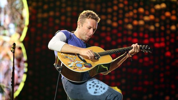 Chris Martin, durante el concierto que Coldplay ofreció en Barcelona en mayo de 2016