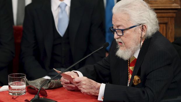 Fernando del Paso, el pasado abril, durante la entrega del premio Cervantes