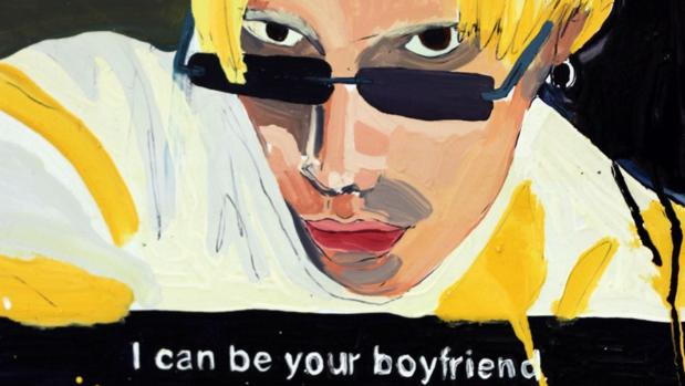 Fragmento de «I Can Be Your Boyfriend» (2015), óleo sobre lienzo