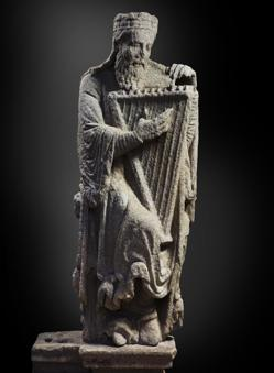«David», (h. 1188), del Maestro Mateo