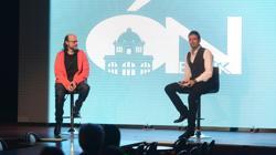 Santiago Segura y Luis Álvarez, durante la presentación del proyecto