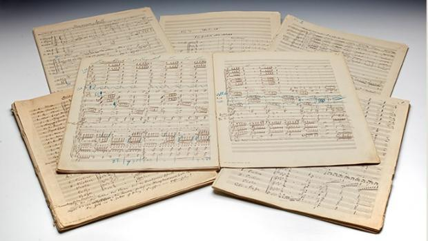 Partitura original de la Sinfonía Nº 2 «Resurrección», de Gustav Mahler