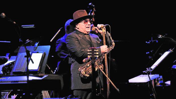 Van Morrison, durante su úiltima actuación en Barcelona