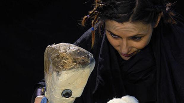 María José Frías, en su espectáculo «Palabras de caramelo»