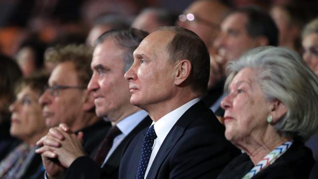 El presidente ruso, Vladimit Putin, en el Teatro Mariinski, en San Petesburgo
