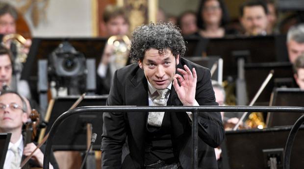 Gustavo Dudamel, durante uno de los ensayos del concierto