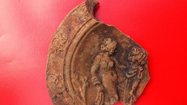 La lucerna, descubierta en La Alcudia (Elche)