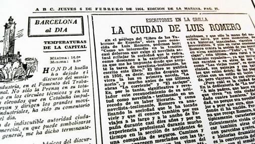 Artículo de Tomás Alcoverro en ABC, el 6 de febrero de 1964