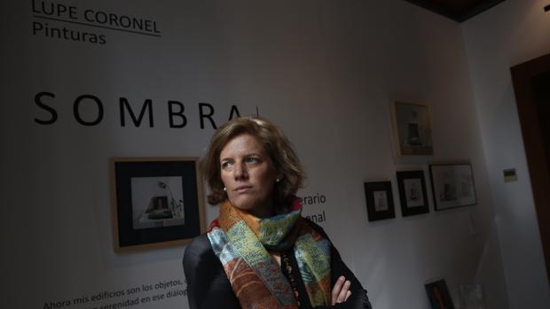 Lupe Coronel Medina, autora de la exposición 'Sombra'