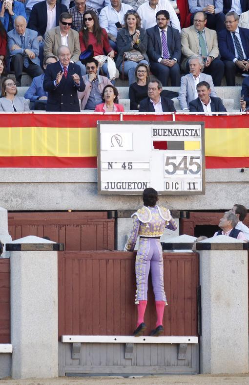 Brindis de Sebastián Castella a Don Juan Carlos