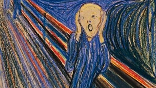 Detalle de «El grito», de Edvard Munch