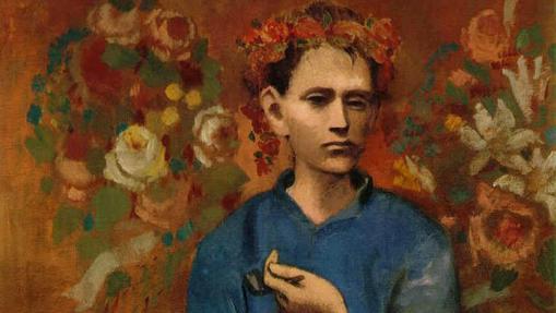 Detalle de «Muchacho con pipa», de Pablo Picasso