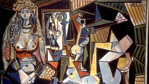 Detalle de «Les femmes d'Alger», de Pablo Picasso