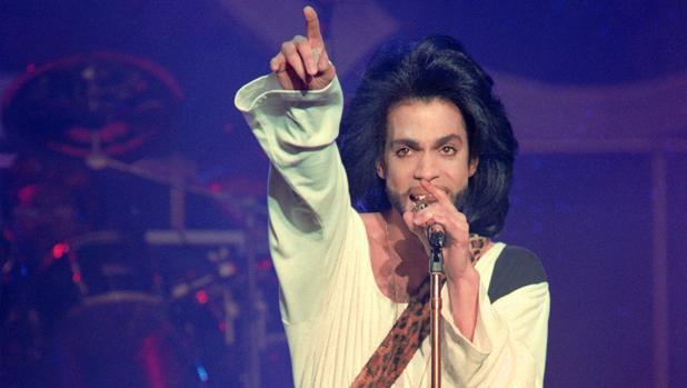 Prince, durante un concierto