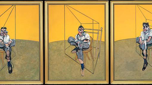 Detalle de «Tres estudios de Lucian Freud», de Francis Bacon