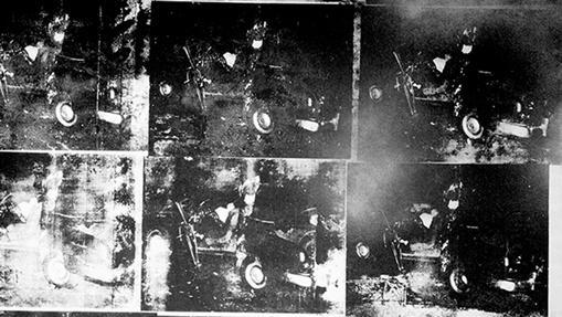 Detalle de «Silver Car Crash (Double Disaster)», de Andy Warhol