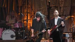 El grupo de rock Foo Figthers en concierto