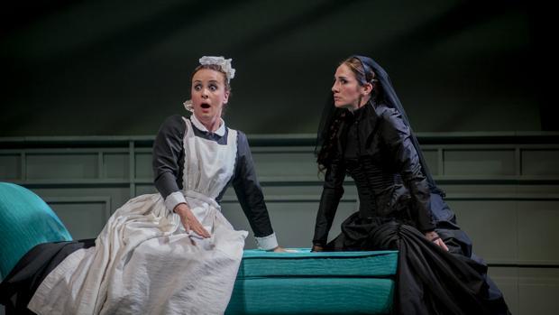 Un momento del estreno de «La dama duende», en Almagro