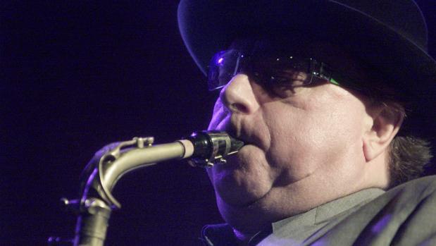 El músico Van Morrison, durante un concierto en Madrid