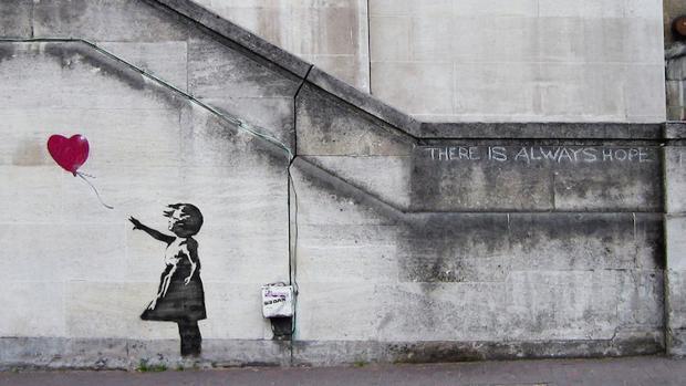 La obra «Balloon Girl», de Banksy
