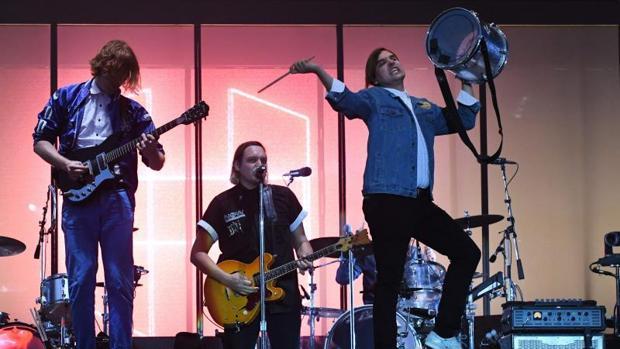 La banda canadiense Arcade Fire, en una imagen del pasado 15 de julio