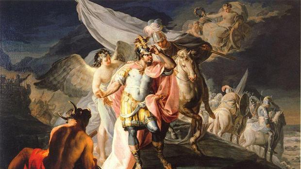 «Aníbal vencedor contempla por primera vez Italia desde los Alpes», de Goya