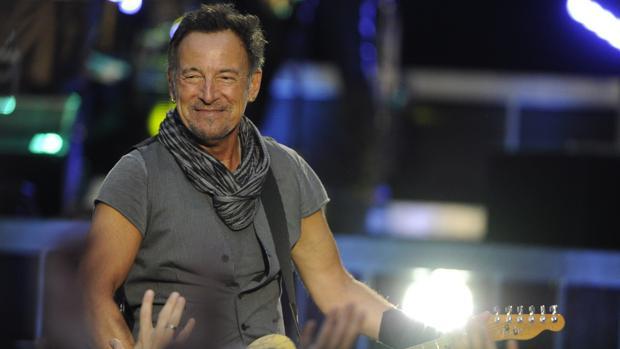Bruce Springsteen, durante su actuación en el Santiago Bernabéu en 2016