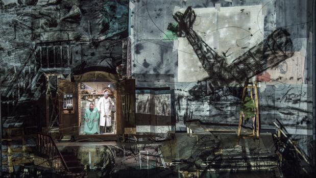 Muestra del trabajo de William Kentridge que acompaña a la ópera de Alban Berg