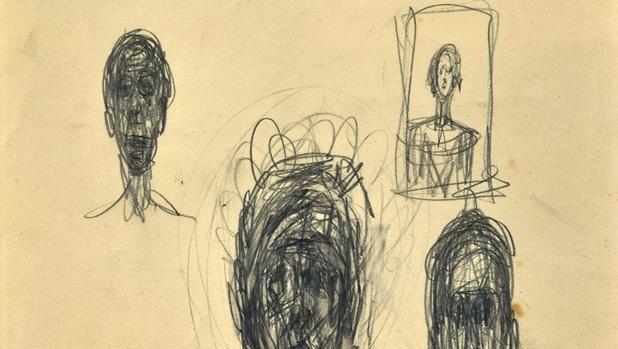 Detalle de uno de los dibujos descubiertos