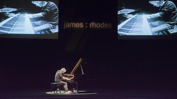 James Rhodes, durante su actuación en Peralada