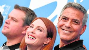 Matt Damon, Julianne Moore y George Clooney