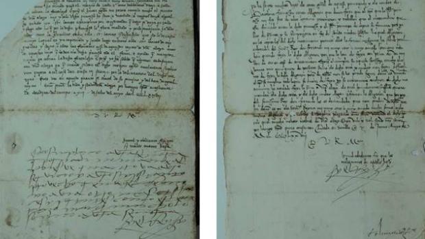 Carta manuscrita con nueve líneas autógrafas de Fernando II de Aragón y otra firmada por el monarca en 1478