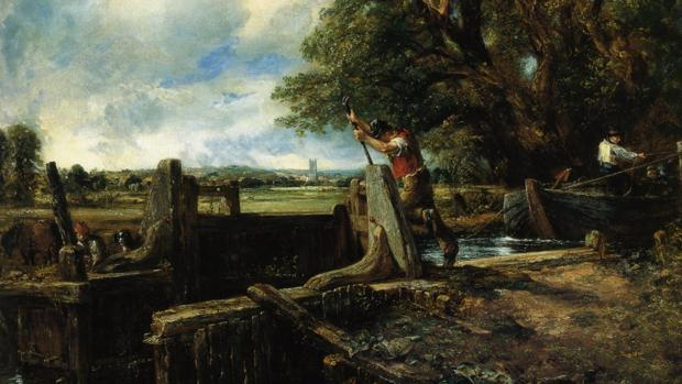 Muestra de «La esclusa», de John Constable, subastada por 27,9 millones en 2012