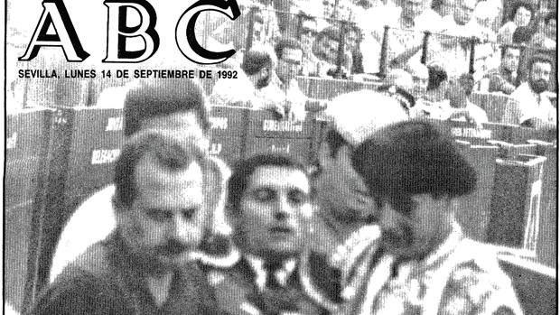 La muerte de Soto Vargas fue la noticia de portada de ABC el 14 de septiembre de 1992