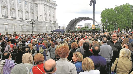 En 2013 el público acudió masivamente a un concierto reivindicativo de la ORTVE