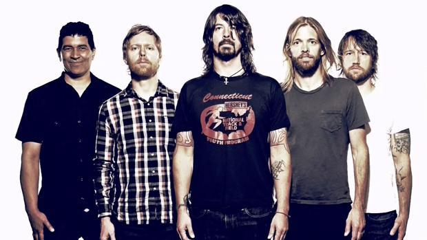 Los integrantes de Foo Fighters, con Dave Grohl (en el centro) a la cabeza