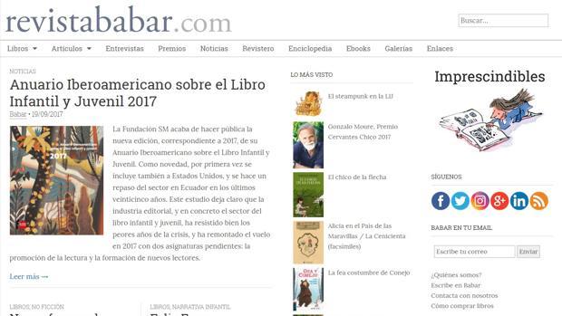 Página web de la revista «Babar»