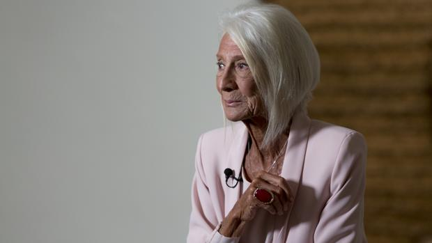 Soledad Lorenzo, durante la presentación en el Reina Sofía