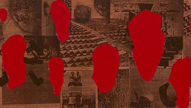 «M. D.-19» (1990), serigrafía sobre madera de Txomin Badiola