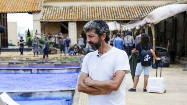 El cineasta Alberto Rodríguez, durante el rodaje