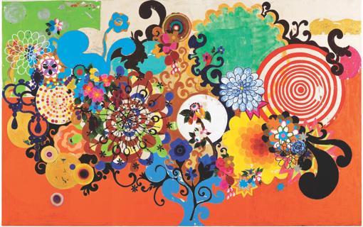 «O mágico». 2001. Acrílico. 188 x 298 cm