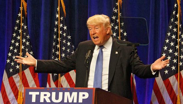 Donald Trump en uno de los mítines durante su campaña electoral