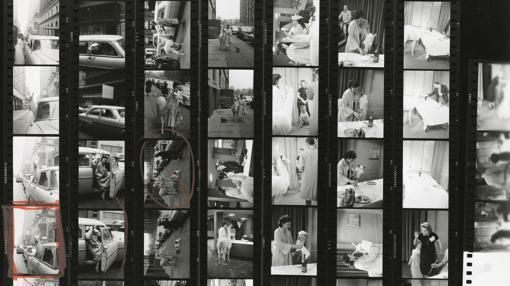 «Una llama en Times Square», de Inge Morath. Nueva York, EE.UU., 1957