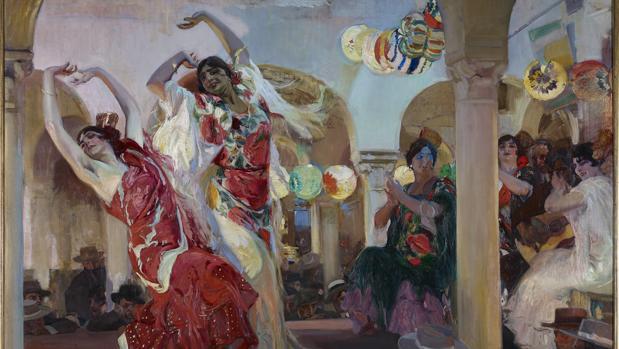 «Baile en el café Novedades de Sevilla», de Sorolla. Detalle