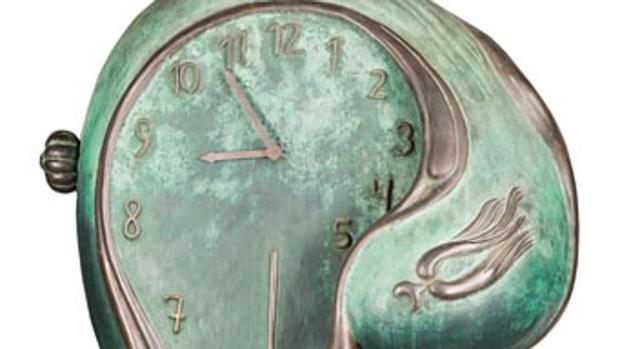 Detalle de la escultura «Reloj blando», de Dalí