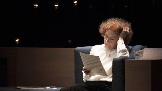 La actriz madrileña en un momento de «Cartas de amor»